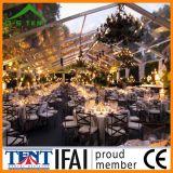 Telhado da decoração do banquete de casamento e dossel transparentes da barraca de parede