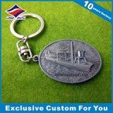 trousseau de clés de qualité de cadeau d'affaires de trousseau de clés d'alliage du souvenir 3D