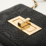 Nuevos bolsos europeos y americanos negros del modelo de la serpiente de la manera (A065)