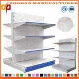 Planken van de Plank van de Vertoning van de Supermarkt van de Gaten van de goede Kwaliteit de Metaal Geslagen (Zhs129)