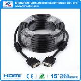 Vga-Kabel 3+2/3+4/3+6 15 Pin-Mann zum männlichen Computer-Kabel