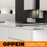 De moderne Houten Kabinetten van de Lak van het Meubilair van de Keuken Witte met Eiland (OP16-L21)