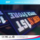 IP65는 주차장에 P10 풀 컬러 옥외 광고 정면 서비스 발광 다이오드 표시를 방수 처리한다