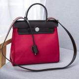 고명한 상표 여자 진짜 가죽 가방 색깔 충돌 핸드백 Emg4723