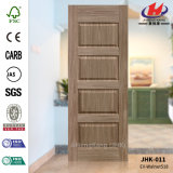 Jhk-011 Grain de bois 4 panneaux Jet Black Walnut Cellier Door Skin