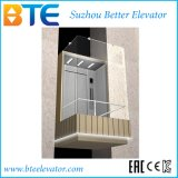 Ce Observation Passenger Elevator with Glass Cabin