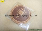 Cortiça pura da venda inteira com o Coaster redondo da cortiça do logotipo de seda da impressão com GV (B&C-G102)