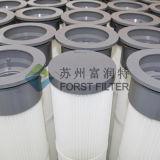 Пылевые фильтры мешка Pleat верхней части PU Forst промышленные