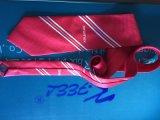 Cravate estampée par polyester rouge avec le logo pour le marché de Dubaï