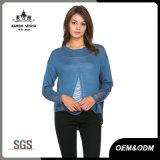 Джинсовая ткань урожая женщин задний свитер