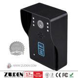 Monofone telefone video da porta de 7 polegadas com destravagem do cartão de RFID