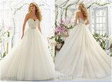 Mariée de Chaud-Vente neuve A - ligne robe du soutien-gorge 2016 de mariage, personnalisée