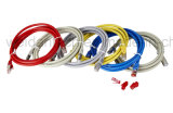 Cable de la red de la cuerda de corrección de la chaqueta CAT6A 550MHz de Lszh