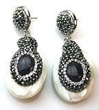 Orecchino a cristallo degli orecchini della lega barrocco della perla di alta qualità per la signora Woman