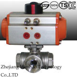 Motorized 2PC Flanged Floating Ball Valve Wtih Taiwan Electric Actuator