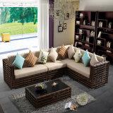 Conjunto de sofá de Cornor de jardim de rattan sintético de qualidade superior (YT611)