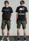 T-shirt rond de rue de collet de garçons d'impression frais de mode