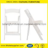Silla de jardín al aire libre blanca de la resina de la silla de la boda