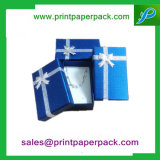 Cadre de bijou noir de cadeau de festival de carton de qualité