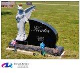 Monumento di seduta del granito intagliato angelo di colore bianco, Headstone