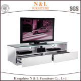 Stainless Steel LegsおよびHandlesのGlossy高いTV Cabinet