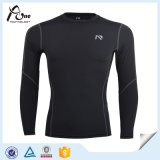 Hommes manches longues Mesh Gym Jersey Compression Shirts