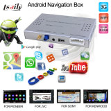 Car Android Navigation Box para Kenwood, Pioneer Car DVD Player, Soporte táctil, 3G, WiFi, 1080P, Voz, Internet