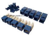 Azul trapezóide do saco do grau 10PCS de Cat5e UTP Jack 90