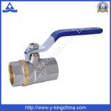 Válvula de esfera de controle de água de bronze forjada com alça de ferro (YD-1023)