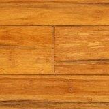 Suelo de bambú tejido hilo sólido del corrimiento del francés de T&G