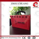 Nécessaire en acier rouge de verrouillage de garantie avec le traitement en plastique pour Loto
