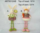 Decoração equipada com pernas Bunny-2asst de Easter do grânulo de madeira