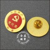 Insigne badge estampillée en métal en métal rond en métal (GZHY-LP-008)