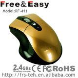 Perfectionner le modèle pour la souris 2.4G optique sans fil ergonomique avec la couleur DEL