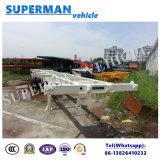 40FT de Semi Aanhangwagen van de tri van de As van het Skelet van de Container van het Frame Lading van het Vervoer