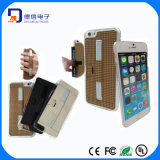 Dünner lederner Telefon-Kasten-Luxuxdeckel für das iPhone 6 Plus