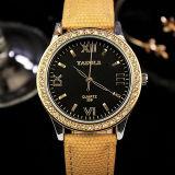 Reloj del cuarzo de las mujeres de piedra cristalinas