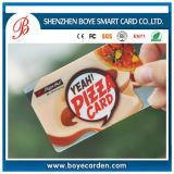 Cartão plástico da impressão de cor 4 com preço de fábrica o mais barato