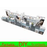 cabine souple &Portable réutilisable 20FT en aluminium d'exposition de salon de tissu de 10FT