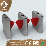 RFIDの折り返しの翼の障壁のゲートのステンレス鋼の回転木戸