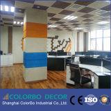 El panel acústico del estudio decorativo de las Madera-Lanas del material de construcción