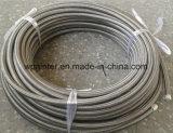 SAE 100 R14 dois conjuntos de mangueira trançados do aço inoxidável PTFE da camada