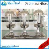 Machine en plastique de distributeur de jus de boisson de têtes triples manuelles portatives commerciales de restaurant d'hôtel