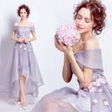 Longue robe de soirée de satin de femmes d'usager bon marché en gros de Halter