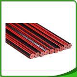 Карандаш нашивки Hexo Hb офиса студента школы красный деревянный с истирателем