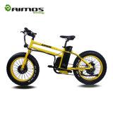 Bici gorda eléctrica de Europa de la montaña de la potencia del amarillo del regalo de Navidad