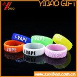 Изготовленный на заказ кольца Vape силикона логоса шелковой ширмы для электронный курить сигареты