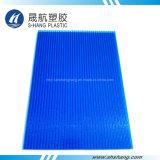 Hojas de pared dobles de policarbonato azul helado con protección UV