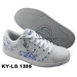 China New Hot Lady e crianças Casual Skateboard Shoes PU Leather Rb Sole