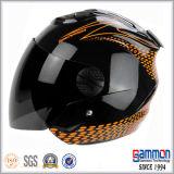 차가운 순수한 검정 열리는 마스크 기관자전차 헬멧 (OP201가)